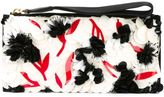Marni paillette flower clutch