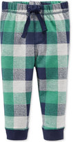 First Impressions Baby Boys' Plaid Jogger Pants, Only at Macy's