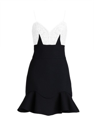 Alexander McQueen Lace Peplum Mini Dress