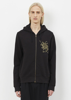 Dries Van Noten black hollister embroidered hoodie