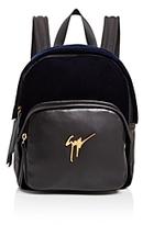 Giuseppe Zanotti Velvet Logo Backpack