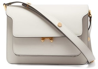 Marni Trunk Medium Smooth-leather Shoulder Bag - Womens - Light Grey
