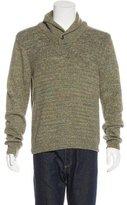 Rag & Bone Wool-Blend Donegal Shawl Sweater
