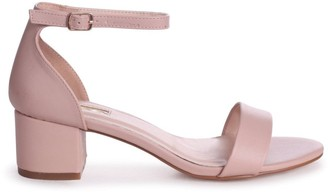 Linzi HOLLIE - Nude Nappa Barely There Block Heeled Sandal With Closed Back