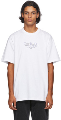 Carhartt Work In Progress White Commission T-Shirt