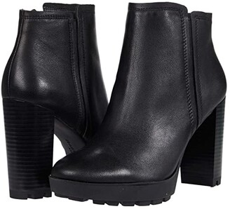Kenneth Cole New York Justin Lug Chelsea (Black Leather) Women's Boots