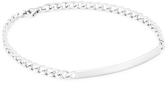 Miansai Rhodium Plated Sterling Silver ID Chain Bracelet