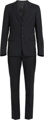 Prada Micro Print Slim-Fit Suit