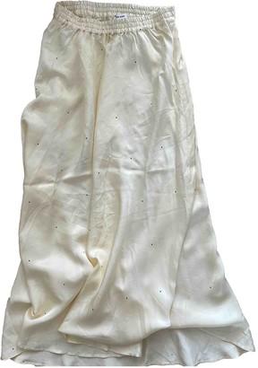 Designers Remix Yellow Silk Skirt for Women