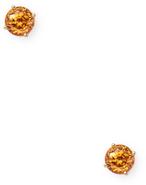 Paolo Costagli Round Mandarin Garnet & Yellow Gold Stud Earrings