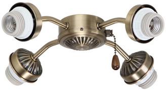 Emerson Fans Emerson Ceiling Fans 4 Light Arm Fitter, Antique Brass