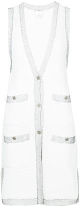 Chanel Pre Owned Longline Sleeveless Cardigan