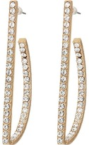 GUESS Thin Geometric Pave Earrings