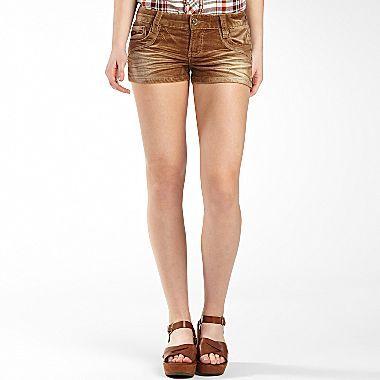 JCPenney Khaki Corduroy Shorts