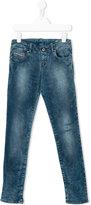 Diesel stonewashed denim jeans - kids - Cotton/Polyester/Spandex/Elastane - 12 yrs