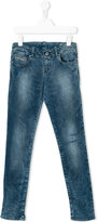 Diesel stonewashed denim jeans - kids - Cotton/Polyester/Spandex/Elastane - 6 yrs