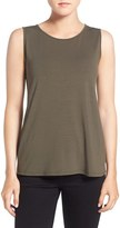 Eileen Fisher Women's Lightweight Jersey Round Neck Tank