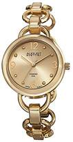 August Steiner Women's AS8132YG Gold-Tone Watch with Link Bracelet