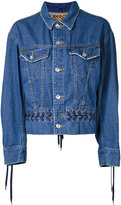 G.V.G.V. denim lace-up jacket - women - Cotton - 34