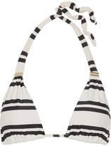 Vix Classic Bia Tube Striped Triangle Bikini Top - Cream