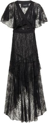Paper London Sienna Asymmetric Checked Taffeta Wrap Dress