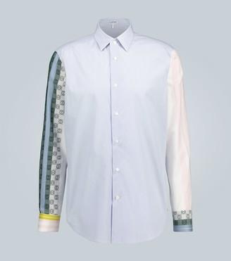 Loewe Striped Anagram long-sleeved shirt