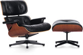 Vitra LCH XL Eames Lounge Chair & Ottoman - Cherry/Black