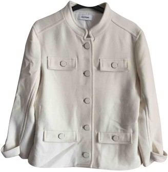 Courreges White Wool Jacket for Women
