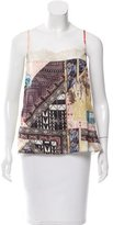 Christian Lacroix Silk Printed Top w/ Tags