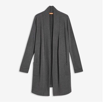 Joe Fresh Women's Mix Knit Sleep Cardi, Dark Charcoal Mix (Size M)