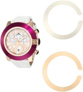 Glam Rock Women's GR32120 SoBe Chronograph Dial Patent Leather Alligator Pattern Watch