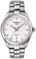 Tissot T1014101103100 Pr100 Date Bracelet Strap Watch, Silver/white