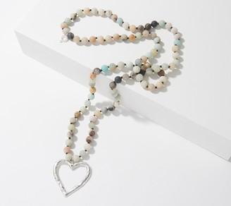 "Powerbeads by Jen Rosary Bead 36"" Gemstone Necklace"