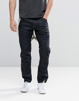 G-star Elwood 5620 3d Taper Jeans With Braces Raw