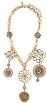 Oscar de la Renta Coin Portrait Medallion Necklace
