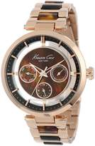 Kenneth Cole New York Women's KC4929 Transparency Blue Mother-Of-Pearl Dial Rose Gold Watch