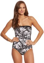 Penbrooke White Snow Bandeau One Piece Swimsuit 8150442