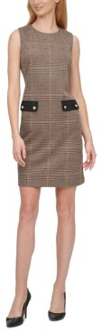 Tommy Hilfiger Petite Houndstooth Sheath Dress