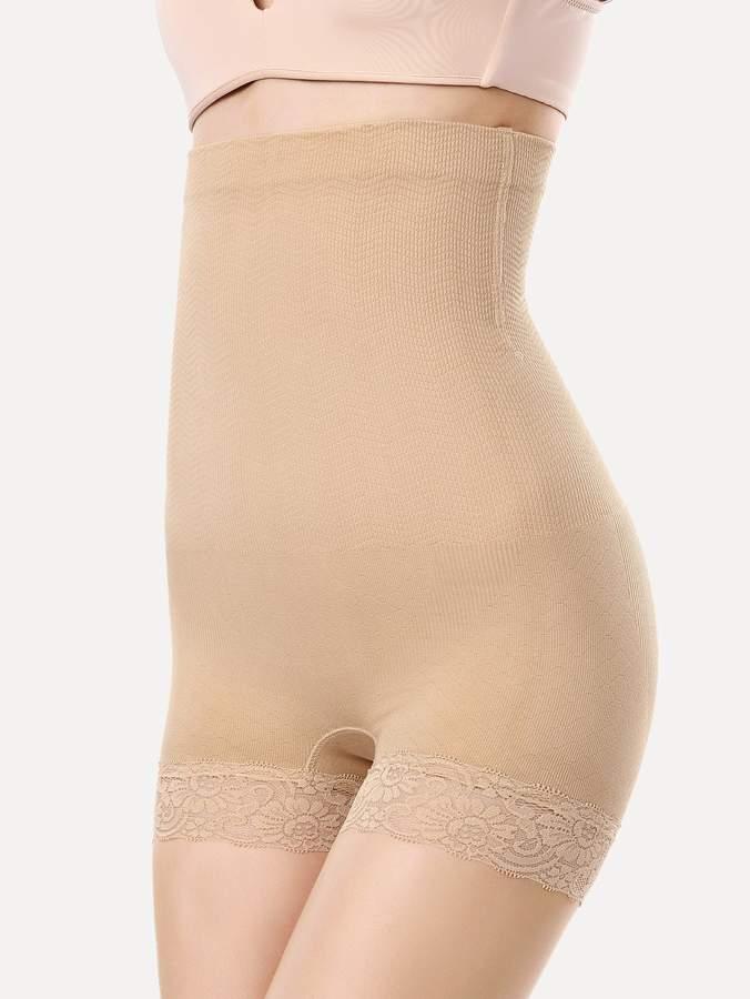 Contrast Lace High Waist Shapewear Shorts