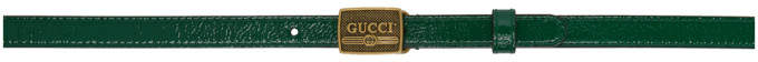 Gucci Green Patent Buckle Belt