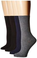 Hue Rib Dress Socks 4-Pack Women's Crew Cut Socks Shoes
