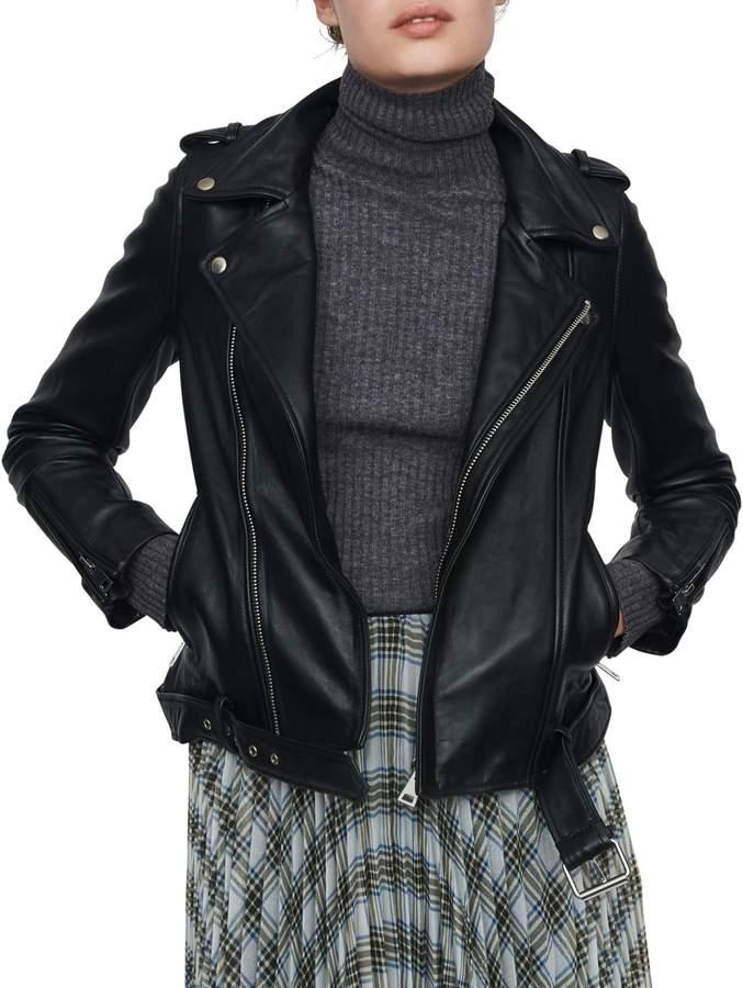 Maje Boceli Leather Jacket