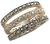 Lord & Taylor Sterling Silver And Marcasite Crystal Stackable Ring