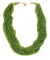 Twisted Seed Bead Necklace - Green