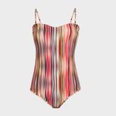 Paul Smith Women's 'Crossover Stripe' Print Bandeau Swimsuit