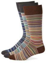 Paul Smith Three-Piece Multihued Knitted Socks