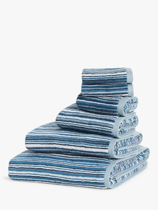 John Lewis & Partners Stripe Towels, Blue