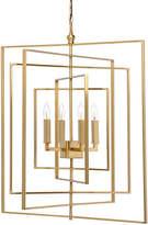 Chelsea House Cube 4-Light Chandelier - Antiqued Brass