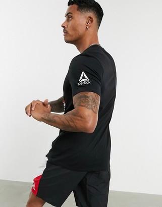 Reebok Training UFC logo t-shirt in black