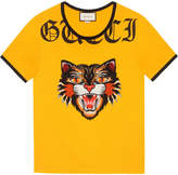Gucci T-shirt with Angry Cat appliqué